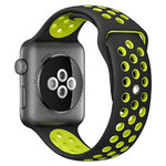 Sport Plus Silicone Band Strap - Apple Watch 38 / 40mm - Black / Yellow